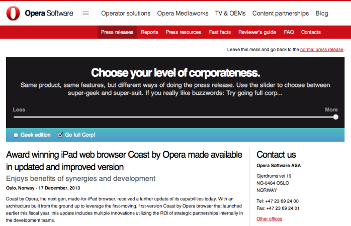Coast by Opera, now updated - Opera Software